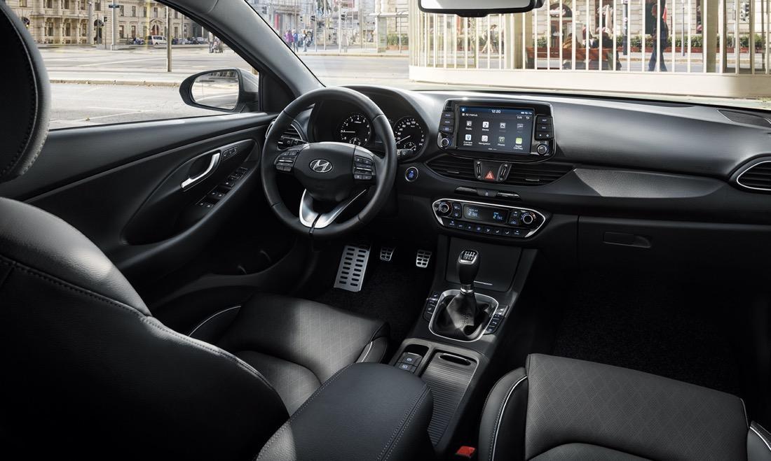 Interni della Hyundai i30 Fastback
